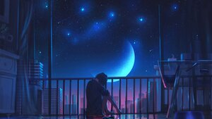 Rating: Safe Score: 79 Tags: building city kenzo_093 night original polychromatic scenic sky stars User: BattlequeenYume