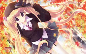 Rating: Safe Score: 34 Tags: autumn calendar ikegami_akane long_hair stockings User: Oyashiro-sama