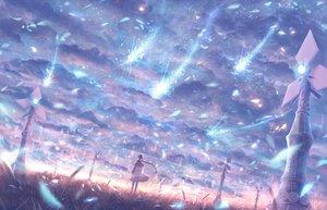 Rating: Safe Score: 196 Tags: bou_nin braids clouds dress landscape long_hair original polychromatic scenic sky windmill User: Flandre93