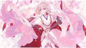 Rating: Safe Score: 48 Tags: cherry_blossoms fan flowers gray_hair headdress japanese_clothes kimono miyuki_(miyuki_05290) onmyouji petals pink_eyes short_hair User: RyuZU