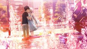 Rating: Safe Score: 35 Tags: cube game_cg gray_hair kami-sama_no_you_na_kimi_e kantoku kiss long_hair male shiromae_kaito tsukuyomi_(kamikimi) water User: BattlequeenYume