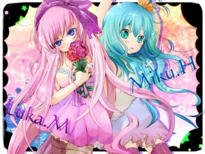 Rating: Safe Score: 52 Tags: eruma_(eruma0u0) hatsune_miku megurine_luka vocaloid User: SciFi