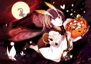 Rating: Safe Score: 31 Tags: annerica brown_hair butterfly candy green_eyes halloween japanese_clothes long_hair moon mushishi_(onmyouji) night onmyouji sky torii wings User: BattlequeenYume