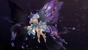 Rating: Questionable Score: 36 Tags: 2girls amane_kanata ass barefoot butterfly cz_(mikumikumi) dress hololive hoshimachi_suisei magnet_(vocaloid) nopan shoujo_ai skirt_lift watermark wings User: BattlequeenYume
