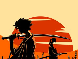 Rating: Safe Score: 9 Tags: jin mugen polychromatic samurai_champloo User: haru3173