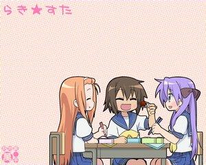 Rating: Safe Score: 4 Tags: food hiiragi_kagami kusakabe_misao lucky_star minegishi_ayano User: Oyashiro-sama