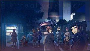 Rating: Safe Score: 38 Tags: a.i._channel animal_ears aoi_ch. building city crossover dark dennou_shoujo_youtuber_shiro fuji_aoi fujisaki_yua hat kaguya_luna kaguya_luna_(character) kemomimi_vr_channel kizuna_a.i. mirai_akari mirai_akari_project nekomasu_(kemomimi_vr_channel) night ponytail raichi shiro_(dennou_shoujo_youtuber_shiro) tokino_sora tokino_sora_channel watermark yua_(youtube) User: FormX