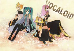 Rating: Safe Score: 31 Tags: boots hatsune_miku headphones kagamine_len kagamine_rin long_hair megurine_luka sugano_manami thighhighs vocaloid User: korokun