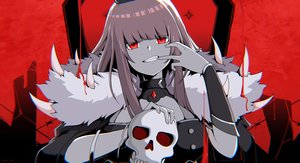 Rating: Safe Score: 51 Tags: blood chain's fang hololive long_hair mori_calliope pink_hair polychromatic red_eyes signed skull vocaloid User: otaku_emmy