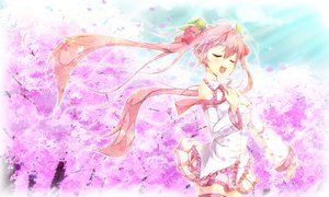 Rating: Safe Score: 52 Tags: hatsune_miku sakura_miku vocaloid yukinon User: FormX