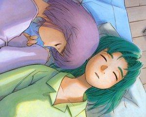Rating: Safe Score: 9 Tags: ashinano_hitoshi hatsuseno_alpha sleeping takatsu_kokone yokohama_kaidashi_kikou User: Oyashiro-sama