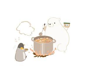 Rating: Safe Score: 18 Tags: animal bear chai_(artist) fire food nobody original penguin polychromatic signed white User: otaku_emmy
