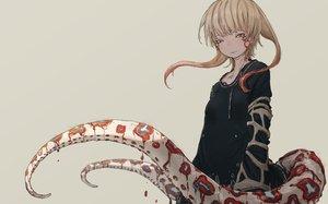Rating: Safe Score: 53 Tags: blonde_hair dress long_hair original tagme_(artist) tattoo tentacles yellow_eyes User: otaku_emmy