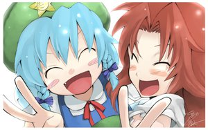 Rating: Safe Score: 38 Tags: 2girls blush braids cirno hat hong_meiling morino_hon touhou User: PAIIS