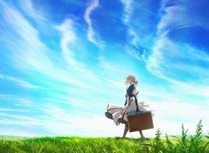 Rating: Safe Score: 11 Tags: blonde_hair blue_eyes braids clouds dress grass short_hair sky tagme_(artist) violet_evergarden violet_evergarden_(character) User: RyuZU