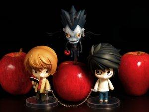 Rating: Safe Score: 32 Tags: all_male apple black death_note figure food fruit l male photo ryuk shackles yagami_light User: gits_sac