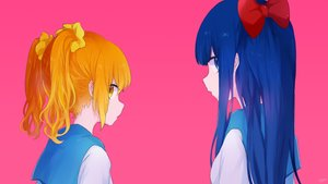 Rating: Safe Score: 43 Tags: 2girls mari_(milkuro) pink pipimi pop_team_epic popuko waifu2x User: FormX