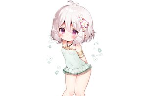 Rating: Safe Score: 63 Tags: blush gray_hair kokkoro koma_momozu pointed_ears princess_connect! purple_eyes short_hair signed swimsuit white User: otaku_emmy