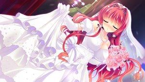 Rating: Safe Score: 135 Tags: akemiya_sakura breasts cabbit cleavage dress game_cg love_love_life rubi-sama skirt skirt_lift skyfish wedding_attire User: mattiasc02