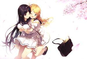 Rating: Safe Score: 64 Tags: 2girls hug long_hair original scan school_uniform senji_(tegone_spike) shoujo_ai socks User: mattiasc02