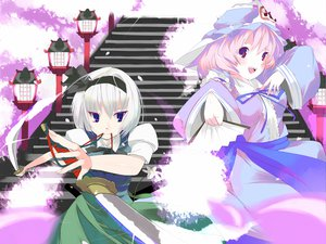 Rating: Safe Score: 8 Tags: katana konpaku_youmu saigyouji_yuyuko sword touhou weapon User: YagamiShinji