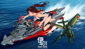 Rating: Safe Score: 54 Tags: aircraft barefoot blew_and_white brown_eyes brown_hair i-401_(kancolle) kantai_collection ponytail school_swimsuit seifuku signed swimsuit water User: Wiresetc