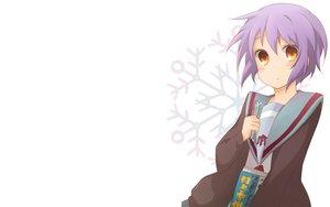 Rating: Safe Score: 31 Tags: blush brown_eyes glasses nagato_yuki purple_hair school_uniform short_hair suzumiya_haruhi_no_yuutsu white User: Umbra