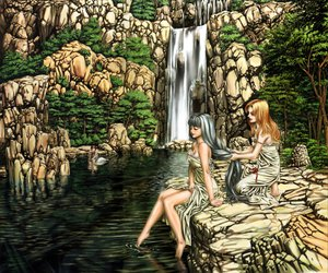 Rating: Safe Score: 35 Tags: landscape long_hair scenic tagme tree water waterfall User: 秀悟