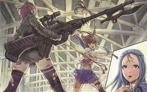 Rating: Safe Score: 60 Tags: blood gun original sword torn_clothes weapon yamashita_shunya User: garypan