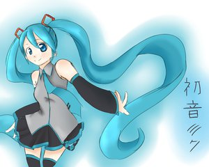 Rating: Questionable Score: 14 Tags: aqua_eyes aqua_hair hatsune_miku long_hair vocaloid User: Payaya