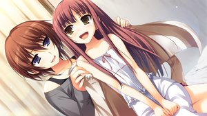 Rating: Safe Score: 51 Tags: brown_hair game_cg hayashi_tomoko koi_de_wa_naku long_hair makishima_yumi short_hair tomose_shunsaku User: Wiresetc