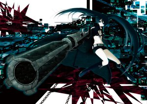 Rating: Safe Score: 59 Tags: black_rock_shooter chain gun kuroi_mato weapon User: HawthorneKitty