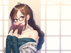 Rating: Safe Score: 74 Tags: blush book braids brown_eyes brown_hair candy chocolate consort_yu_(fate) fate/grand_order fate_(series) glasses long_hair ponytail twintails valentine yamyom User: RyuZU