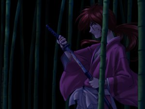 Rating: Safe Score: 7 Tags: all_male dark himura_kenshin japanese_clothes katana male night rurouni_kenshin scar sword weapon User: haru3173