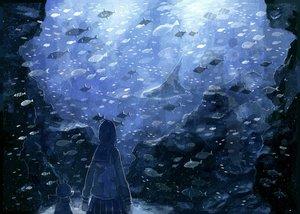 Rating: Safe Score: 76 Tags: animal blue fish nomiya_(no_38) original User: Flandre93