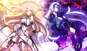 Rating: Safe Score: 152 Tags: armor blonde_hair breasts chain fate/grand_order fate_(series) jeanne_d'arc_alter jeanne_d'arc_(fate) long_hair shinooji sword thighhighs weapon white_hair yellow_eyes User: mattiasc02