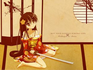 Rating: Safe Score: 15 Tags: japanese_clothes jpeg_artifacts kimono long_hair shakugan_no_shana shana sword weapon User: Oyashiro-sama