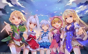 Rating: Safe Score: 107 Tags: blonde_hair blue_eyes blue_hair breasts cape cleavage gilse group headband hoodie japanese_clothes long_hair miko necklace orange_eyes original ribbons short_hair thighhighs white_hair yellow_eyes zettai_ryouiki User: otaku_emmy