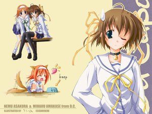 Rating: Safe Score: 6 Tags: amakase_miharu asakura_nemu choker da_capo doggirl ribbons User: Oyashiro-sama