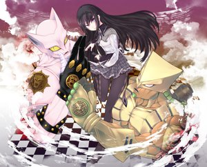 Rating: Safe Score: 42 Tags: akemi_homura altria9 bite_the_dust black_hair jojo_no_kimyou_na_bouken killer_queen_(jojo) long_hair mahou_shoujo_madoka_magica pantyhose purple_eyes the_world User: FormX