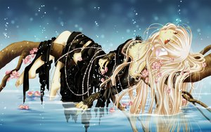 Rating: Safe Score: 148 Tags: barefoot cherry_blossoms chobits clamp dress flowers freya long_hair water white_hair User: Maboroshi