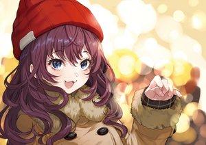 Rating: Safe Score: 90 Tags: blue_eyes cat_smile hat ichinose_shiki idolmaster idolmaster_cinderella_girls long_hair purple_hair yuu_(higashi_no_penguin) User: RyuZU