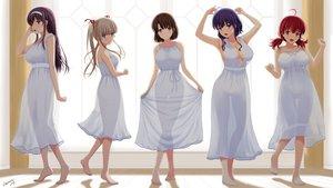 Rating: Safe Score: 108 Tags: barefoot breasts cleavage dress hashima_izumi hyoudou_michiru kasumigaoka_utaha katou_megumi nopan saenai_heroine_no_sodatekata satou_chagashi sawamura_spencer_eriri see_through signed summer_dress User: gnarf1975