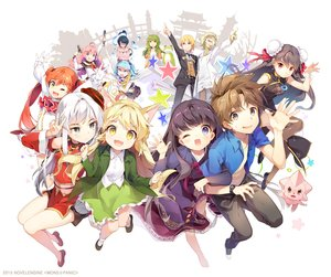 Rating: Safe Score: 63 Tags: aqua_hair black_hair blonde_hair brown_eyes brown_hair cat_smile chinese_clothes chinese_dress fang foxgirl gilse gray_eyes green_eyes green_hair group horns japanese_clothes kneehighs long_hair male mons_panic necklace orange_hair pink_hair red_eyes short_hair skirt suit thighhighs tie twintails white_hair wings wink yellow_eyes User: otaku_emmy