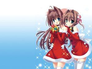 Rating: Safe Score: 48 Tags: asakura_otome asakura_yume christmas da_capo da_capo_ii thighhighs User: HawthorneKitty
