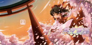 Rating: Safe Score: 18 Tags: cherry_blossoms flowers hakurei_reimu japanese_clothes miko ofuda petals torii touhou User: Oyashiro-sama