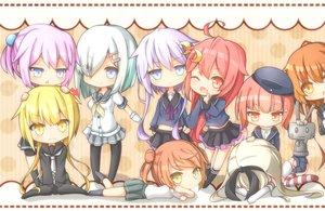 Rating: Safe Score: 122 Tags: anthropomorphism fumizuki_(kancolle) group hamakaze_(kancolle) kantai_collection michishio_(kancolle) pantyhose rateratte rensouhou-chan satsuki_(kancolle) school_uniform shimakaze_(kancolle) shiranui_(kancolle) uzuki_(kancolle) yayoi_(kancolle) z3_max_schultz_(kancolle) User: ArthurS91