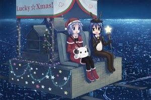 Rating: Safe Score: 37 Tags: blue_eyes blue_hair boots building christmas city green_eyes hiiragi_tsukasa isou_nagi izumi_konata long_hair lucky_star night short_hair sky stars User: HawthorneKitty