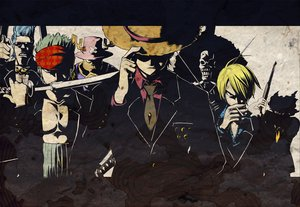 Rating: Safe Score: 149 Tags: black_hair blonde_hair blue_hair brook cigarette franky group gun hat monkey_d_luffy necklace one_piece pirate roronoa_zoro sagatsune sanji short_hair skull smoking sunglasses sword tony_tony_chopper usopp weapon User: 02