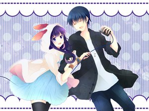 Rating: Safe Score: 33 Tags: animal_ears bunny_ears bunnygirl hiroomi_souma working!! yamada_aoi User: Elnarutoxxx2020